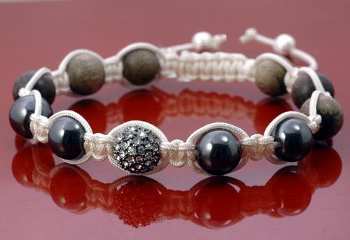 cyberperles les coups de pouce bracelet macram style shamballa. Black Bedroom Furniture Sets. Home Design Ideas