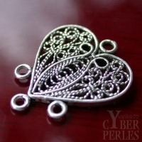 Chandelier style oriental coeur en argent