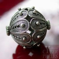 Perle style oriental en argent