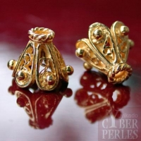 Perle en vermeil style oriental - caps