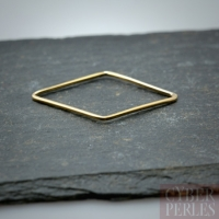 Elément gold filled - losange 28 mm