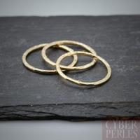 Elément gold filled - cercle martelé 14 mm