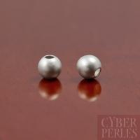 Perle en argent 925 effet sablé - 4 mm