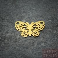 Breloque connecteur en vermeil - papillon