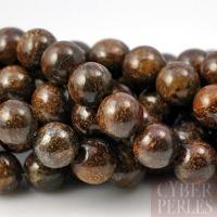 Perles rondes en bronzite - 6 mm