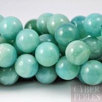 Perle ronde en amazonite 12 mm