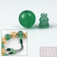 Set de perles finition de mala en aventurine verte