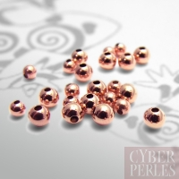 Perle ronde rose gold filled - 3 mm