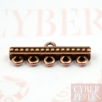 Barrette connecteur 5 rangs - cuivre antique