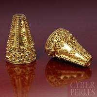 Perle cône de Bali en vermeil