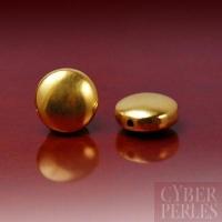 Perle de Bali en vermeil forme pastille