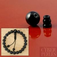 Set de perles finition de mala en onyx noir