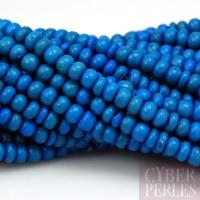 Fil de perles en bois de coco 5 mm - bleu royal