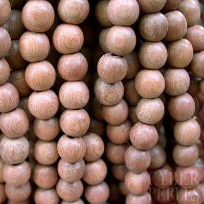 perles rondes en bois de rose naturel 8 mm wp002. Black Bedroom Furniture Sets. Home Design Ideas
