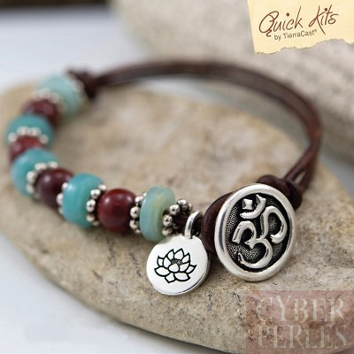 Kit DIY bracelet Om et fleur de lotus
