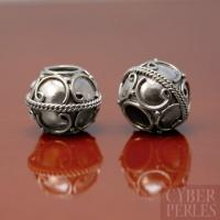 Perle de Bali artisanale en argent