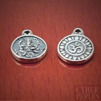 Bali sterling silver Ohm syllable charm