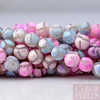 Perles style tibétain agate pastel 6 mm
