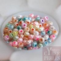Perles tchèques en verre - mix pastel