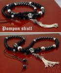 Collier Shamballa style - Pompon skull