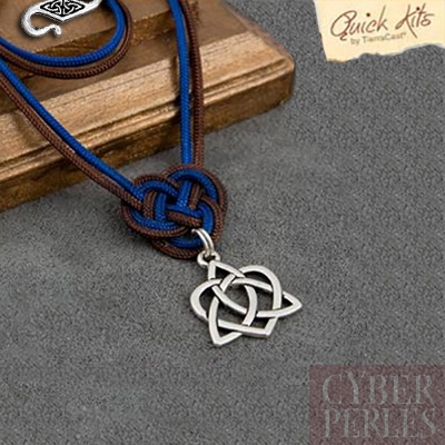 Kit DIY collier coeur celtique argente