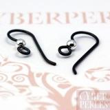 Crochets d'oreilles en nobium finition noir
