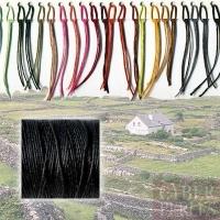 Lin ciré irlandais 1,4 mm - noir