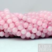 Perles en quartz rose teintées - 6 mm
