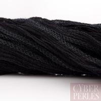 Ruban de soie teint à la main - noir