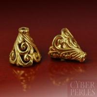 Perle en vermeil de Bali - cône