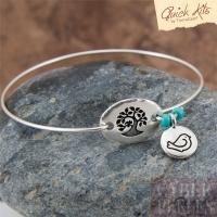 Kit DIY bracelet jonc arbre et oiseau