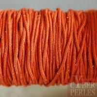 Cordon en tresse de soie - rouille