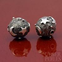 Perle de Bali en argent 925 - lunes étoiles