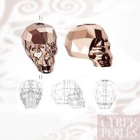 Skull Swarovski - 5750 - Crystal rose gold