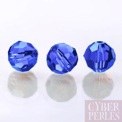 Perle Swarovski ronde 5000 - sapphire 10 mm