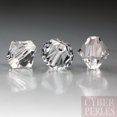 Perle Swarovski toupie 5328 - Crystal 8 mm