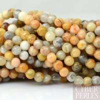 Perles rondes en agate crazy lace 4 mm