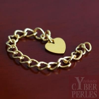 Chaînette d'extension dorée - coeur