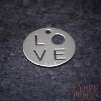 Breloque LOVE en argent 925/1000