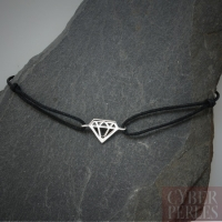 Bracelet cordon et argent 925 - diamant