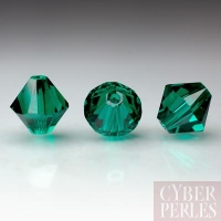 Swarovski crystal bicone 5328 - Emerald 8 mm