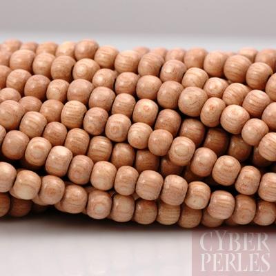 perles en bois de rose naturel 4 5 mm wp135 cyberperles. Black Bedroom Furniture Sets. Home Design Ideas