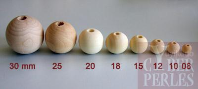 perle ronde en bois naturel 35 mm bb35 cyberperles. Black Bedroom Furniture Sets. Home Design Ideas