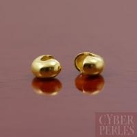 Coques de recouvrement dorées 3 mm