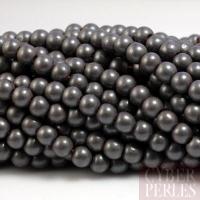 Perles rondes en hématite aspect mat - 4 mm