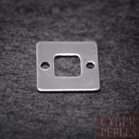 Breloque connecteur carrée argent 925