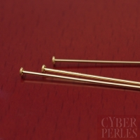 Epingle clou gold filled 22 G - 50 mm