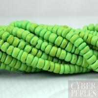 Fil de perles en bois de coco 5 mm - vert anis
