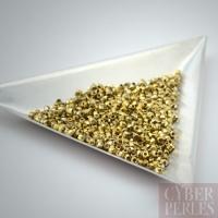 Perles tchèques facettées 2 mm - full amber