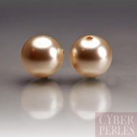 Perles Swarovski nacrées 5810 - Crystal Creamrose 8 mm